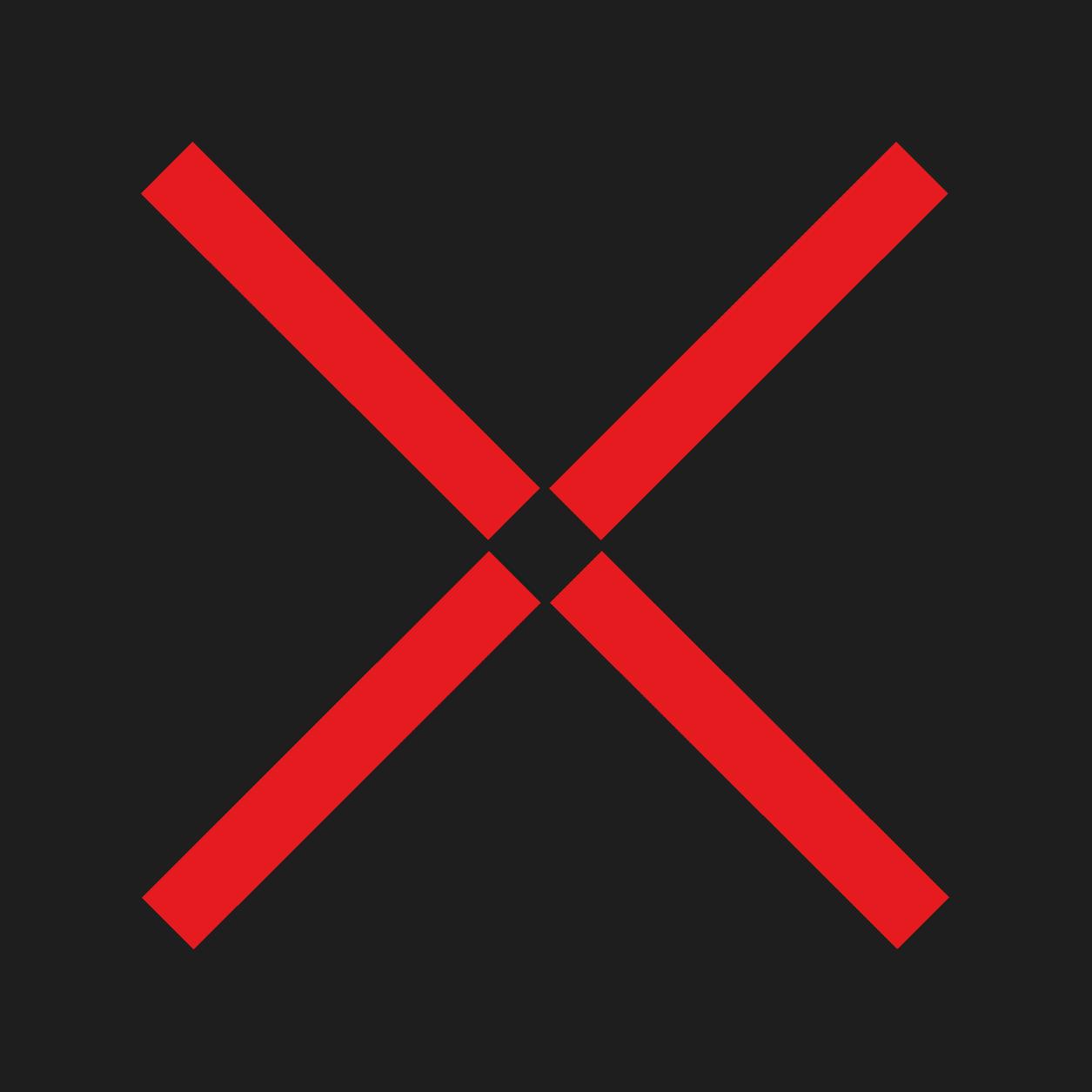 Dauerlichtzeichen Kreuz