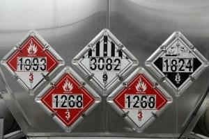 Im ADR ist die Kennzeichnung von Gefahrgut im Hinblick auf die neun Gefahrgutklassen geregelt.