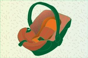 Im Auto sollte der Babysitz am besten auf der Rückbank montiert werden.