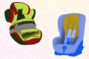Wird es in der Schale zu eng, braucht das Baby einen richtigen Kindersitz.