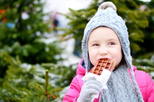 Eine Waffel kann in Belgien während der Ferien ein Genuss sein - Sommer wie Winter.