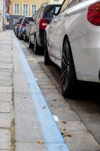 Die blaue Parkzone gibt es beispielsweise in München.