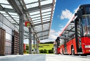 Auch wenn der Bus ohne Warnblinklicht an der Haltstelle stoppt, müssen Sie vorsichtig fahren.