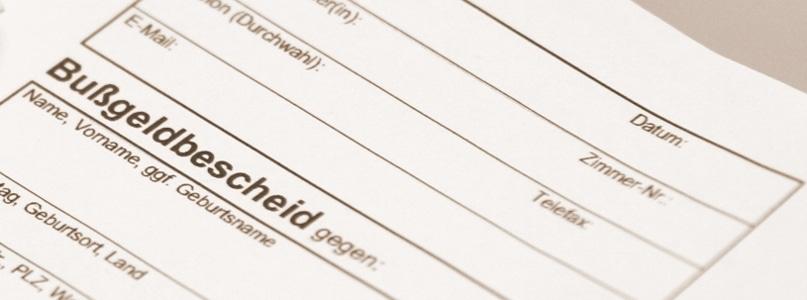 Nicht wenige Bußgeldbescheide sind fehlerhaft und enthalten Mängel