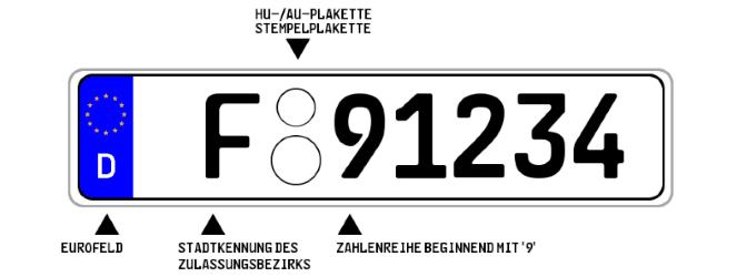 """Die Erkennungsnummer bei einem Diplomatenkennzeichen, das ein Konsulat seinen Beamten ermöglicht, beginnt immer mit der Ziffer """"9""""."""