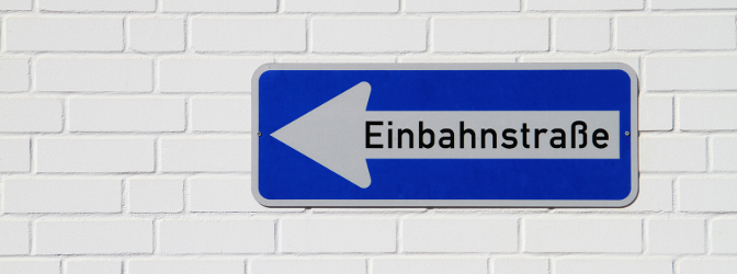 Welche Vorschriften gelten in einer Einbahnstraße?