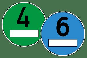 Eine blaue Euro-6-Plakette gibt es aktuell in Deutschland nicht.
