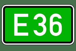 Europastraße: Durch dieses Verkehrszeichen wird sie ausgeschildert.