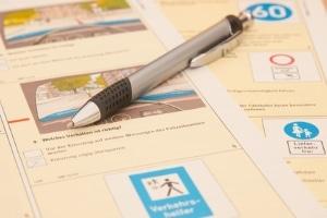 20 Fragen gilt es beim Fahrradprüfungsbogen zu beantworten.