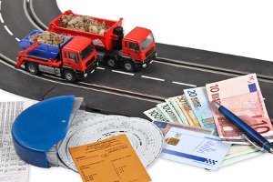 Mit einem Fahrtschreiber werden Ruhe-und Lenkzeiten von Lkw-Fahrern dokumentiert.