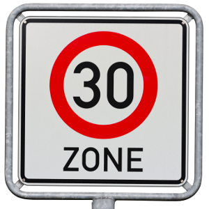 Geblitzt in der 30er-Zone: Es hängt von den gefahrenen km/h ab, welche Sanktionen auf Sie zukommen.