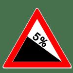 Verkehrszeichen Gefälle