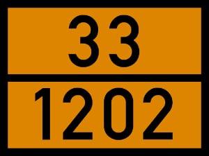 Die auf der Gefahrgutkennzeichnung vermerkte UN-Nummer beschreibt die Zusammensetzung des Transportgutes.