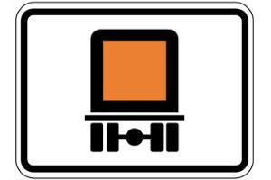 Für den Gefahrguttransport bedeutet diese Kennzeichnung ein Streckenverbot.
