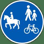 Gemeinsamer Reit-, Geh- und Radweg Dänemark