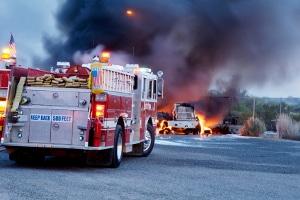 Rettungsdienste sind nicht selten als geschlossener Verband unterwegs.