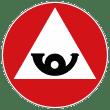Zeichen Haltepflicht Bergstraße Italien