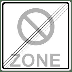 Die Park- oder Halteverbotszone gilt so lange, bis sie durch das entsprechende Zeichen aufgehoben wird.