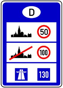 Welche Höchstgeschwindigkeit gilt in Deutschland inner- und außerorts?