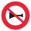 Zeichen Hupen verboten Frankreich