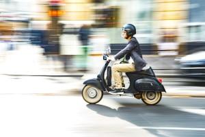 Für ein Kleinkraftrad muss eine Versicherung vorhanden sein.