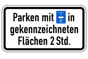 Kurzzeitparkplatz: Ein Schild kann die maximal erlaubte Parkdauer ausweisen, muss es aber nicht.