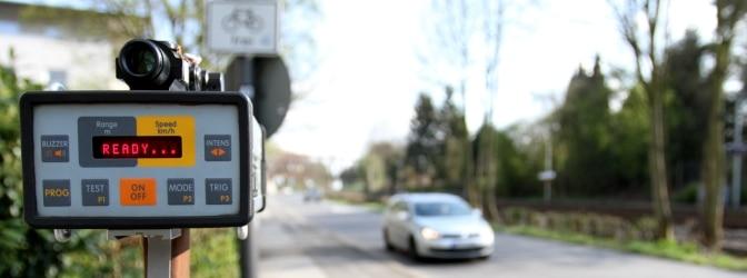 Mobile Lasermessgeräte wie der Laser Patrol können an unterschiedlichen Standorten eingesetzt werden.