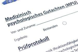 Für ein positives MPU-Gutachten müssen Testkandidaten u.a. den Linienverfolgungstest bestehen.