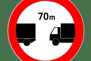 Haben Fahrer bei diesem Schild den Lkw-Abstand nicht eingehalten, kann dies geahndet werden