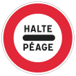 Zeichen Ankündigung Mautstrecke Frankreich