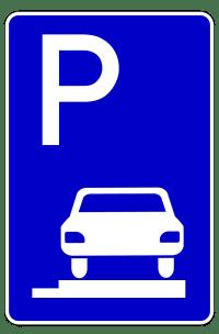 Motorrad: Dieses Verkehrszeichen erlaubt das Parken auf dem Gehweg.