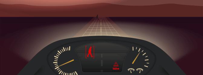 Nachtsicht: Mit einer Kamera am Auto sieht der Fahrer meist etwas mehr.
