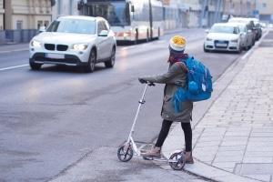 Neuer E-Scooter-Typ: Auch Kinder könnten möglicherweise damit fahren.