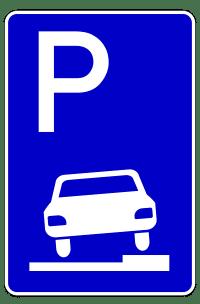 Das Parken auf dem Bürgersteig erlaubt das Verkehrszeichen 315.