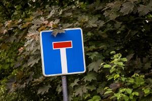 Beim Parken im Wendehammer einer Sackgasse ist besondere Vorsicht geboten.