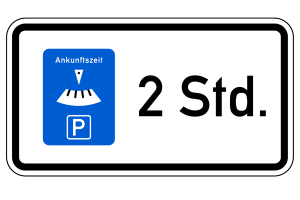 Eine Parkscheibe wird in Dänemark verwendet, wenn die Parkdauer begrenzt ist.