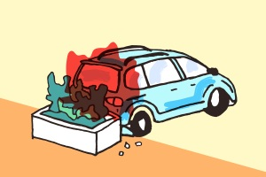Was ist, wenn es beim Rückwärtsfahren zum Unfall kommt?