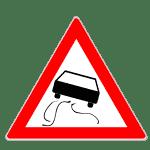 Verkehrszeichen Schleuder- oder Rutschgefahr