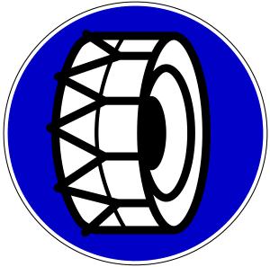 Schneekettenpflicht: Bei Allrad-Antrieb muss nur eine der Achsen ausgestattet werden.