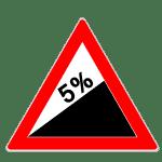 Verkehrszeichen Steigung