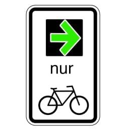 Die StVO-Novelle sieht einen Grünpfeil für Radfahrer vor.