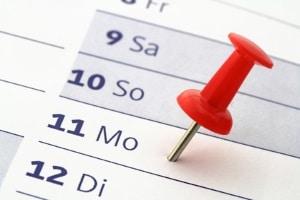 Der für die TÜV-Nachprüfung festgelegte Termin muss eingehalten werden. Die Frist beträgt vier Wochen.