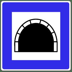 Auf einen Tunnel weist dieses Schild hin.