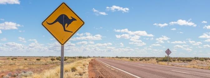 Die Verkehrsregeln in Australien sollen auch die einmalige Flora und Fauna schützen.