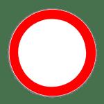 Verkehrszeichen 250 Verbot für Kraftfahrzeuge aller Art