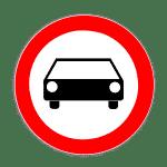 Verkehrszeichen 251 Verbot für Kraftwagen