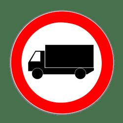 Das Verkehrszeichen 253 kennzeichnet das Lkw-Durchfahrtsverbot – es gilt allerdings für alle Kfz über 3,5 t.