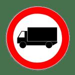 Verkehrszeichen 253 Verbot für Kraftwagen über 3,5 t