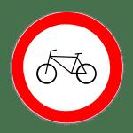 Verkehrszeichen 254 Verbot für Radfahrer
