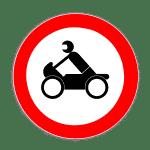 Verkehrszeichen 255 Verbot für Krafträder